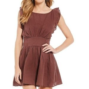 Free People Erin Fit & Flare Mini Dress (L)